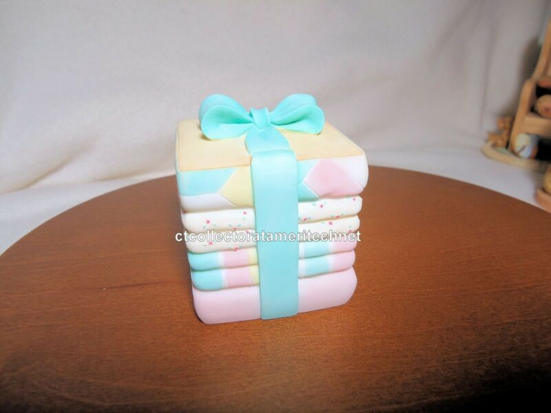 Cherished Teddies Covered Box Birthday Age Baby 2001NIB