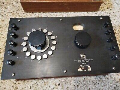 Leeds Northrup Potentiometer Cat. No. 7651 In Wooden Box 1950s