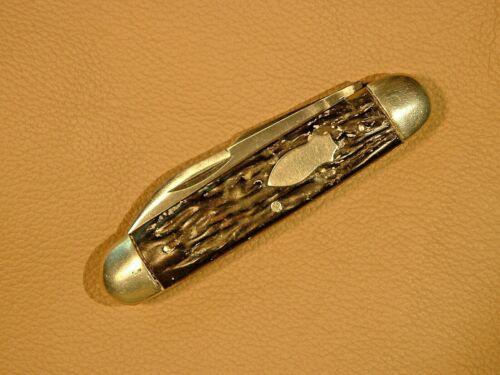 Old Vintage LF&C NEW BRITAIN CONN. 3 Blade CATTLE Pocket Knife - Black Handles