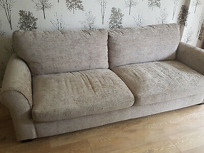 NEW Grey mink silver chenille large sofa 4 seater. Next style