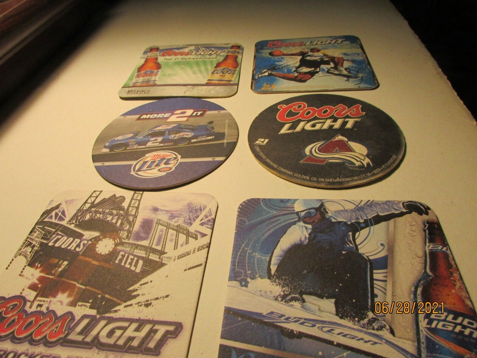 Denver Nuggets - BEER COASTERS- plus Others-6 Total -see pictures- nice