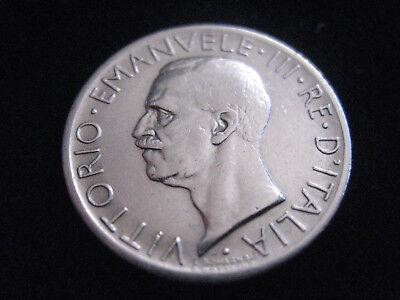 """MDS ITALIEN 5 LIRE 1927 R """"VITTORIO EMANUELE III."""", SILBER  #43"""