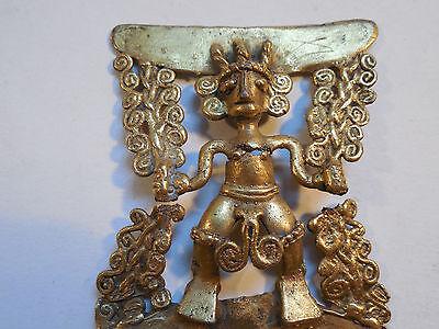 Diquis Gold Pendant Rare Costa Rica Pre-Columbian Archaic Ancient Artifact Mayan