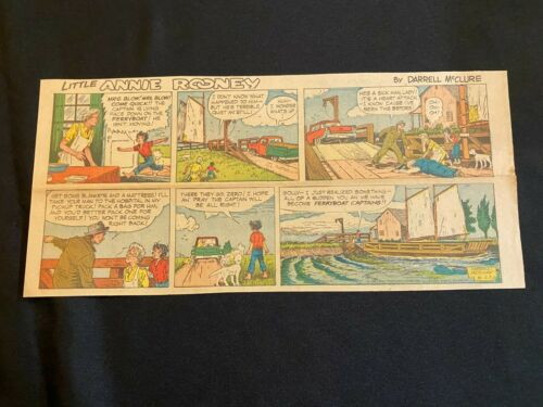 #08 LITTLE ANNIE ROONEY by Darrell McClure Sunday Third Page Comic Strip 1958
