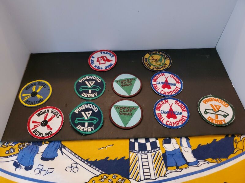 Lot Of 11 YMCA Indian Guide Patches