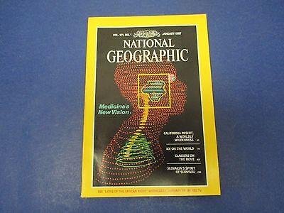 National Geographic Magazine  January 1987  Medical Vision  California Desert