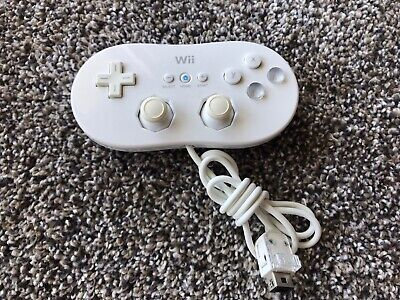 Official original Classic Controller for Nintendo Wii / WiiU - White Tested