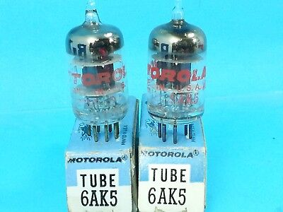 MOTOROLA SYLVANIA 6AK5 VACUUM TUBE 1958 BLACK PLT NOTHING SOUNDS BETTER NOS (Best Tube Amplifiers)