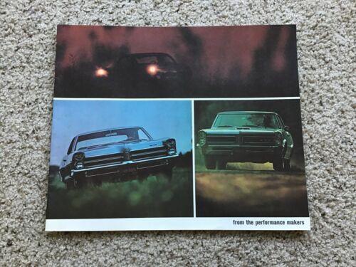 1965  Pontiac performance models,  original dealership sales catalogue.