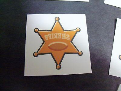 36 Western Sheriff  Badge Tattoo Party Favor Cowboy Outlaw Marshall](Cowboy Western Tattoos)