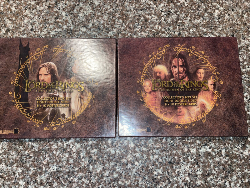 The Lord Of The Rings The Two Towers/return Of The King Box Sets of 15 Postcards