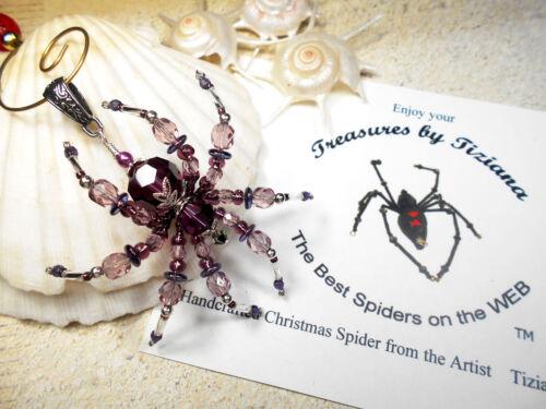 TreasuresbyTiziana® Swarovski Amethyst February Birthstone Spider Pendant Charm