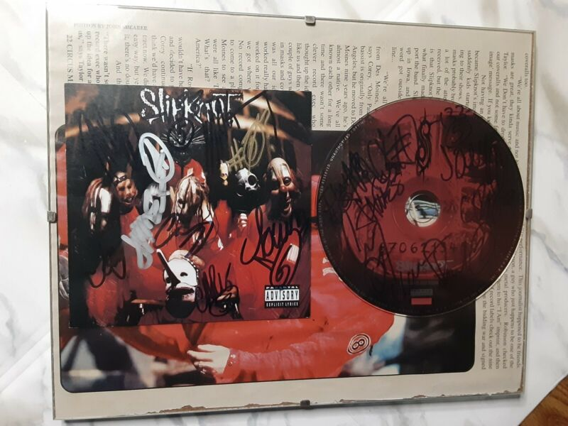 Slipknot Autographed CD and Cover Original Complete Band Self titled CD