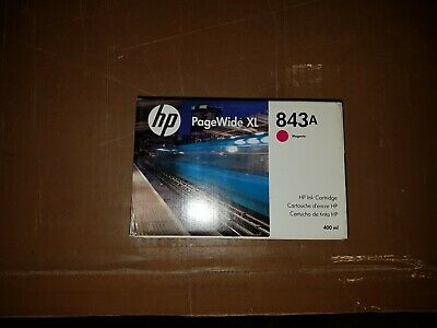 Genuine HP 843A C1Q59A Magenta Ink Cartridge PageWide XL 4000 4500 5000 EXP 2017 5000 Magenta Ink