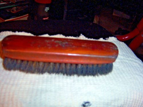 "Vintage wood shoe brush from Stanley Westfield made in USA  wood measures 6"" lon"
