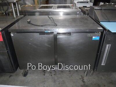 Beverage Air Wtr48a Stainless Steel Work Top Refrigerator 2 Door 115v