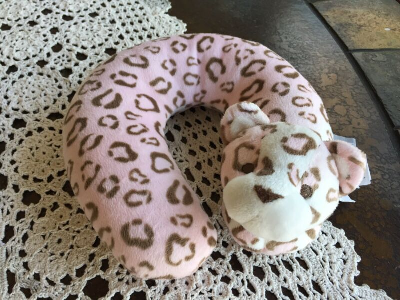 Blankets And Beyond Infant Neck Pillow Pink Leopard
