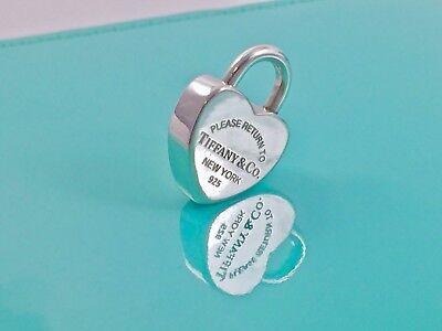 Heart Lock Charm Pendant (Please Return To Tiffany & Co. Silver Heart Padlock Lock Charm Pendant   190701A )