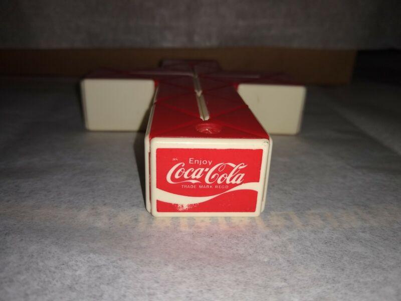 Vintage Coca Cola Coke Snake Puzzle Red & White Plastic Twist Toy Rubik