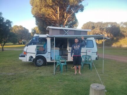 Backpacker van pop top Mazda e2000 White Cliffs Central Darling Area Preview