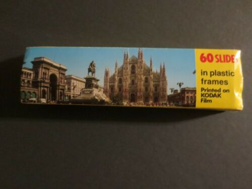 Milano Italy 60 Slides in Plastic Frames Printed on Kodak Film