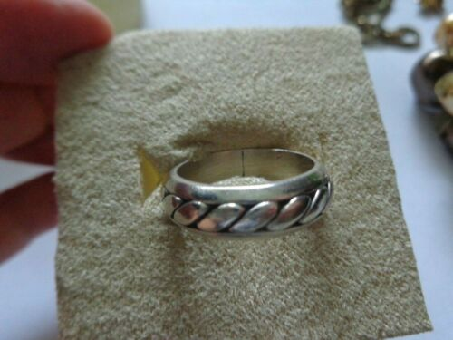 VTG ROPE STERLING SILVER 925 TARNISH FREE RING BAND MEN WOMEN MEXICO SIZE 7.5
