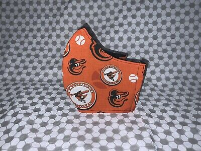 Reusable Baltimore Orioles Fitted Face Maskadjustable Straps And Fiter Pocket