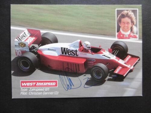 Christian Danner Autogramm signed 10x15 cm Postkarte Zakspeed