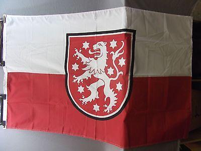 Fahne Thüringen, Größe 90cmx 150cm, 100% Polyester gebraucht