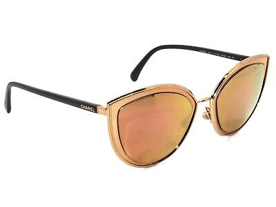 Chanel Rx Sunglasses for FRAME ONLY 4222 C. 117/4Z Gold Cat Eye Italy 54[]20 140
