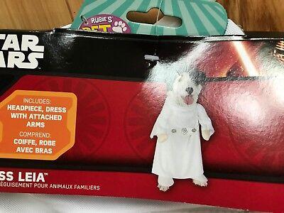 NWT STAR WARS Princess Leia 2 Pc HALLOWEEN Costume Sz Large Dog - Princess Leia Dog Costume