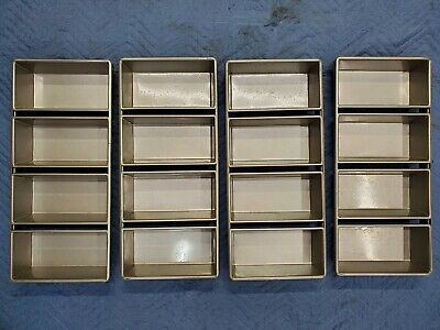 Lot 4 New Chicago Metallic 45642 Aluminum Bakery Baking 4-strap Bread Food Pans