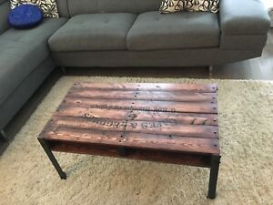 Coffee Table and Pallet coat rack