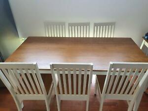 Early Settler Dining Table with Six (6) Chairs | Dining ...