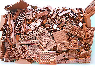 LEGO Redish Brown 1/4 lb Bulk Lot of Bricks Plates Specialty Parts Pieces Pounds