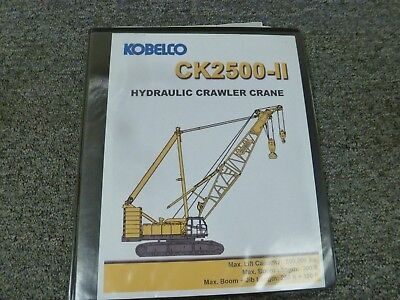 Kobelco Ck2500-ii Crane Luffing Jib Lifting Capacity Specifications Manual