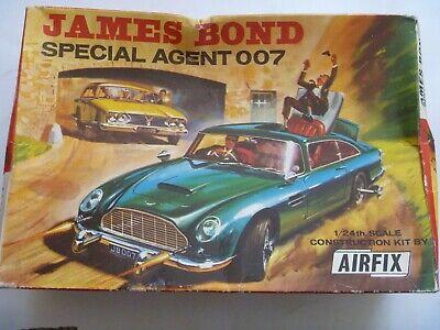 VINTAGE AIRFIX KITS JAMES BOND 007 ASTON MARTIN DB5 - STARTED BUT BOXED