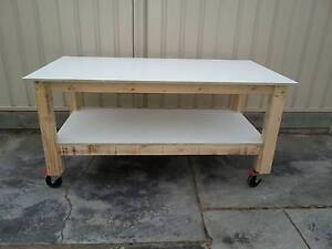 Solid Wooden Work Bench - Free Local Delivery Largs North Port Adelaide Area Preview