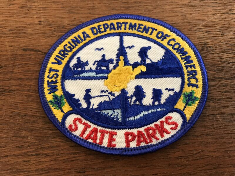 West Virginia Department of Commerce State Parks Embroidered Sew on Patch