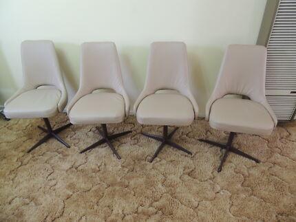 Retro Vinyl Chairs 4 Retro Vinyl Swivel Chairs in