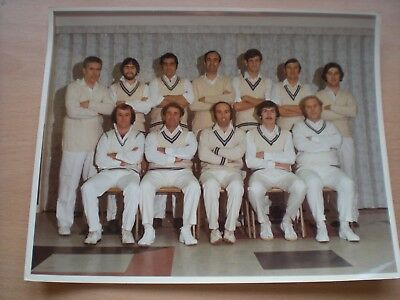 A Real Photo Of FROME CRICKET CLUB From The 1970's ? Colin Dredge etc