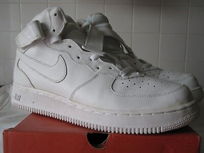 Nike Air Force 1 Mid One - White - Vintage Leather 2002 - Size 13