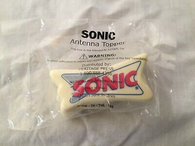 Sonic Drive-In Glow In The Dark Foam Antenna Topper New Sealed