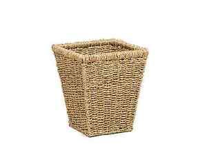 Seagrass Square Waste Paper Basket Bin Bedroom Office Storage Metal Frame Green Ebay