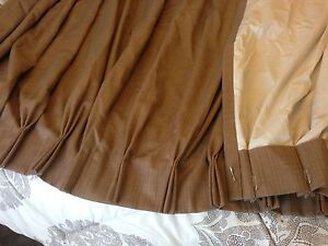 Heavy duty lined curtains