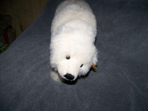 STEIFF WHITE POLAR BEAR WITH BOOK
