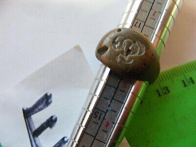 Ancient  Bronze Ring,,Ancient RUSSIAN...18mm..unusual  motif design(E)