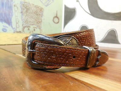 Sentry Brown Leather Golf Belt Size 34 #1546 Made in USA