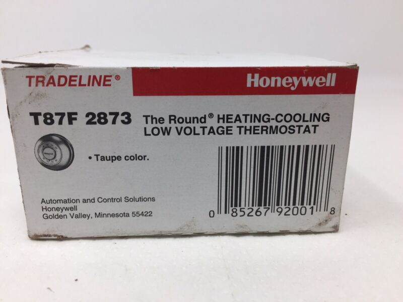 Honeywell T87F 2873 Tradeline Heating Cooling Low Voltage Thermostat