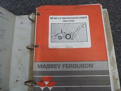 Massey Ferguson Mf 50e 50ex Tractor Digger Loader Parts Catalog Manual Book